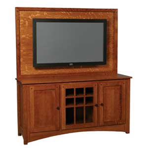 Simply Amish Royal Mission Plasma Back TV Stand