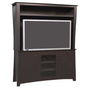 Simply Amish Loft 2-Piece Plasma Center