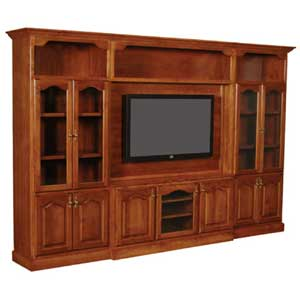 Simply Amish Classic Entertainment Wall Unit