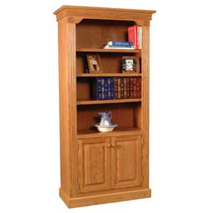 Simply Amish Imperial Amish Bookcase w/ Wood Doors