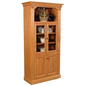 Simply Amish Imperial Amish Bookcase w/ Glass Doors