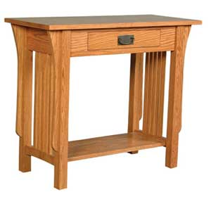 Simply Amish Prairie Mission 1-Drawer Console Table