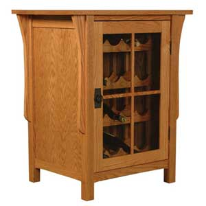 Simply Amish Prairie Mission Wine Cabinet