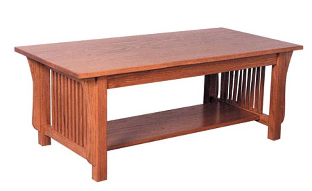 Simply Amish Prairie Mission Coffee Table - Item Number: TV2346CT