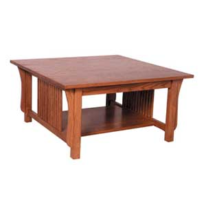 Simply Amish Prairie Mission Square Coffe Table