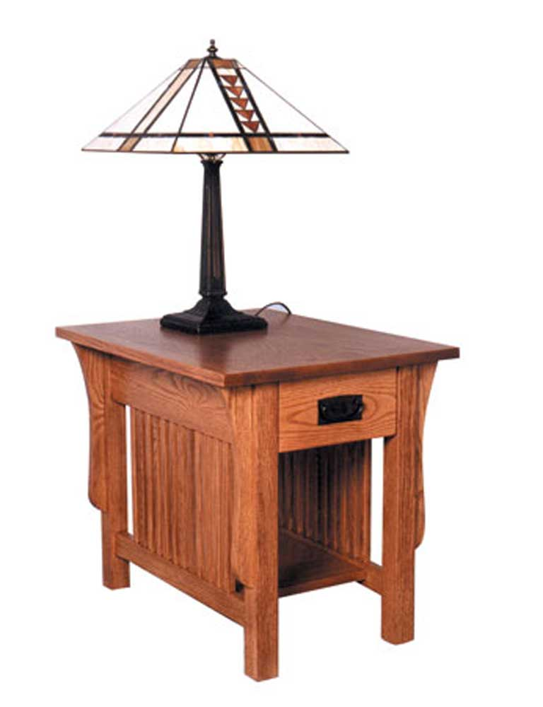 Simply Amish Prairie Mission Drawer End Table - Item Number: TVDPME