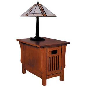 Simply Amish Prairie Mission Door End Table