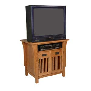 Simply Amish Prairie Mission TV Stand with Doors