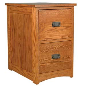 Simply Amish Prairie Mission 2-Drawer File Cabinet