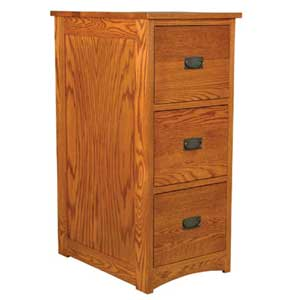 Simply Amish Prairie Mission 3-Drawer File Cabinet