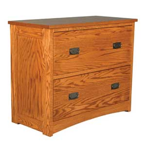 Simply Amish Prairie Mission Lateral File Cabinet