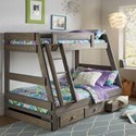 Simply Bunk Beds 209 Twin Over Full Bunk Bed - Item Number: 209