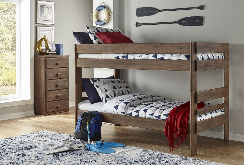 602 TWIN OVER TWIN BINK BED Twin Bunk Bed by Simply Bunk Beds at Furniture Fair - North Carolina