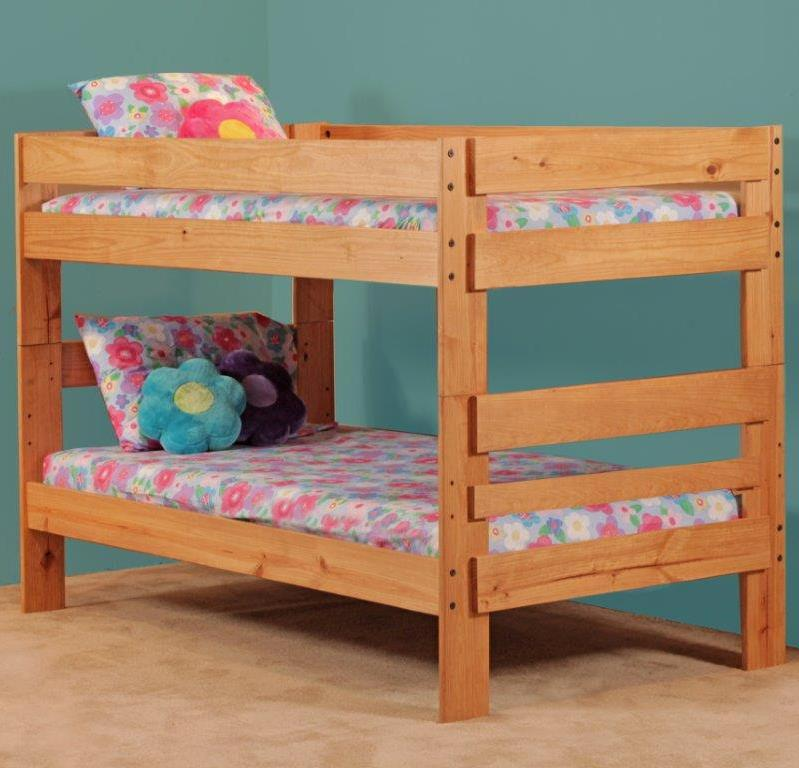 Simply Bunk Beds 702 Twin Bunk Bed - Item Number: 702HB+702R
