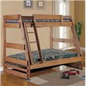 Simply Bunk Beds 709 Twin over Full Bunk Bed - Item Number: 709HB+709R+709L