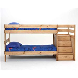 Simply Bunk Beds Simply Bunkbeds Stairstep Twin/Twin Bunkbed