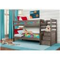 Simply Bunk Beds Emmett Twin over Twin Bunkbed with Staircase - Item Number: 2087R+2087ST
