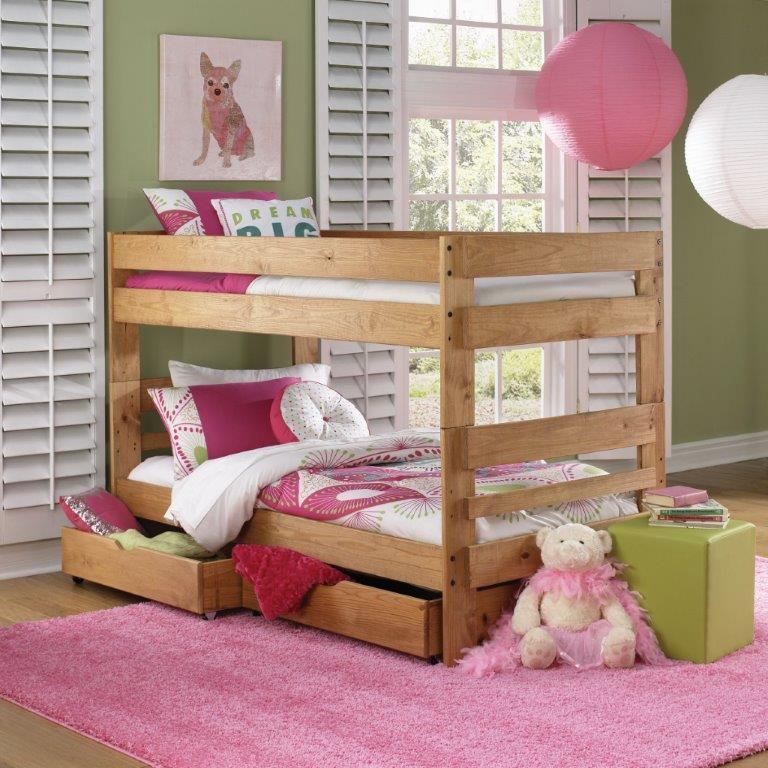 Simply Bunk Beds Pine Twin Ladder Bunk Bed Wayside Furniture
