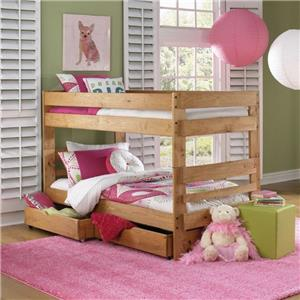 Simply Bunk Beds Pine Twin Ladder Bunk Bed