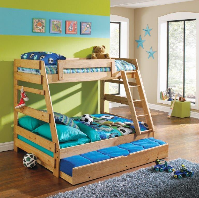 Simply Bunk Beds Pine Twin/Full A Frame Bunk Bed   Item Number: