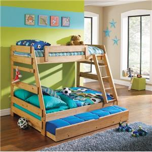 Simply Bunk Beds Pine Twin/Full A-Frame Bunk bed