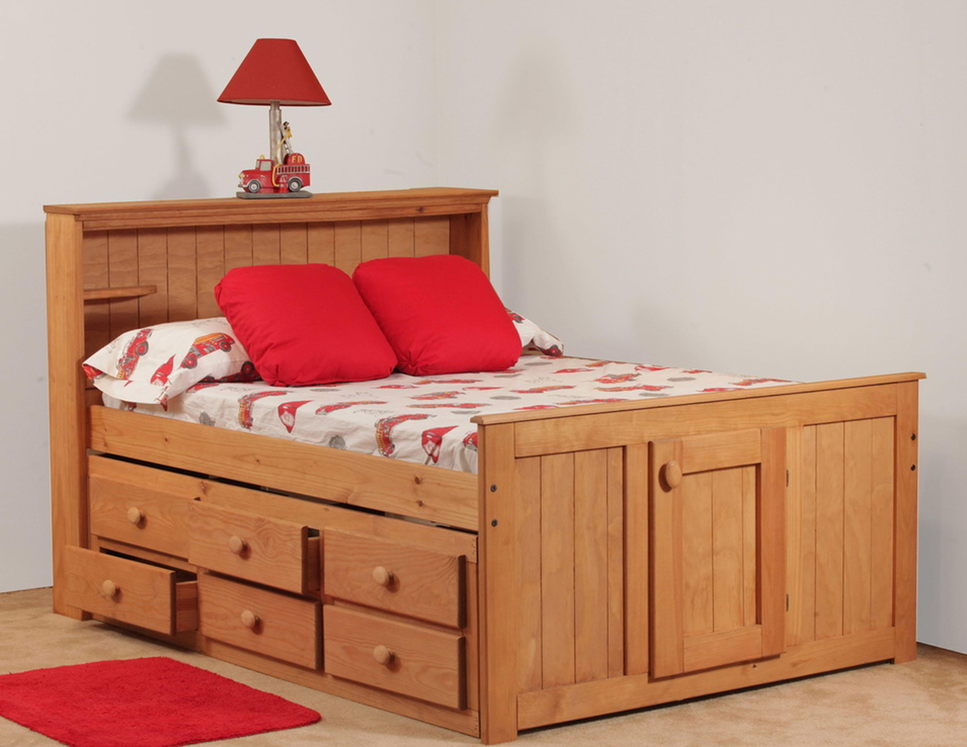 Simply Bunk Beds Pine Full Bookcase Captain s Bed Wayside