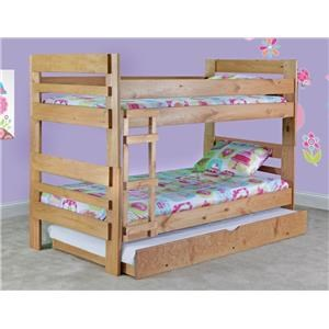 Simply Bunk Beds Simply Bunkbeds Twin-Twin Bunk Bed w/Trundle