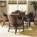 Sligh Bal Harbour 293SA 5 Piece Marco Island Game Table Set with Rum Runner Game/Desk Chair - 293SA-300+4x938-01