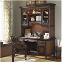 Sligh Bal Harbour 293SA Isle of Palms Credenza with Built-In Outlets, USB and Phone Ports - 293SA-430 - Shown with Isle of Palms Deck and Rum Runner Game/Desk Chair
