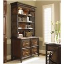 Sligh Bal Harbour 293SA 4 Drawer Laguna Beach File Chest with Locks - 293SA-450 - Shown with Laguna Beach Deck