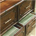 Sligh Bal Harbour 293SA 4 Drawer Laguna Beach File Chest with Locks - 293SA-450 - Bottom File Drawers Open
