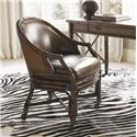 Sligh Bal Harbour 293SA Rum Runner Game/Desk Chair with Leather Seat and Back - 293SA-938-01 - Shown With Marianna Writing Desk