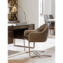 Sligh Cross Effect Contemporary Upholstered Desk Chair with Attached Arms