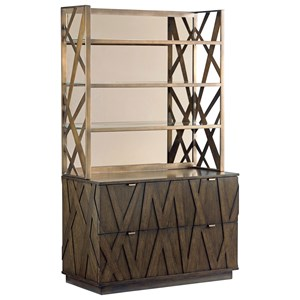 Sligh Cross Effect Modern File Chest and Metal Deck