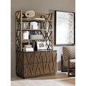 Sligh Cross Effect Contemporary File Chest with Asymmetrical Wooden Overlays