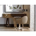 Sligh Cross Effect Contemporary Flip Top Console with Asymmetrical Metal Base