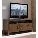 Sligh Cross Effect Contemporary Media Console with Adjustable Shelf