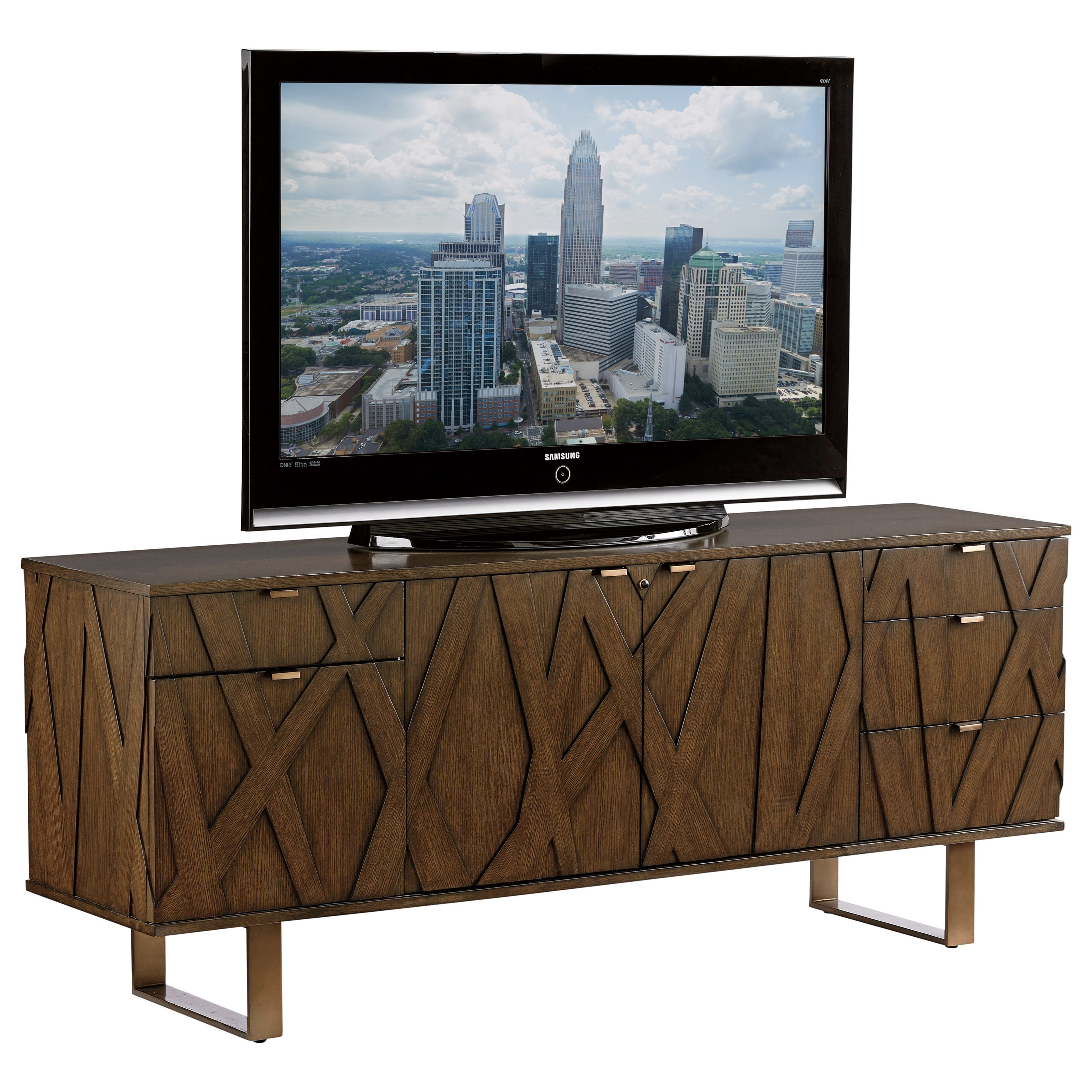 Sligh Cross Effect Contemporary Media Center With Smarteye