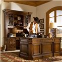 Sligh Laredo Credenza Desk with Deck - 3051-1-LR+4051-1-LR - Shown with Double Pedestal Desk