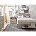 Smartstuff Axis Full Panel Bed with Cutout Headboard