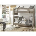 Smartstuff Axis Twin to Full Bunk Bed with Top Bunk Shelf