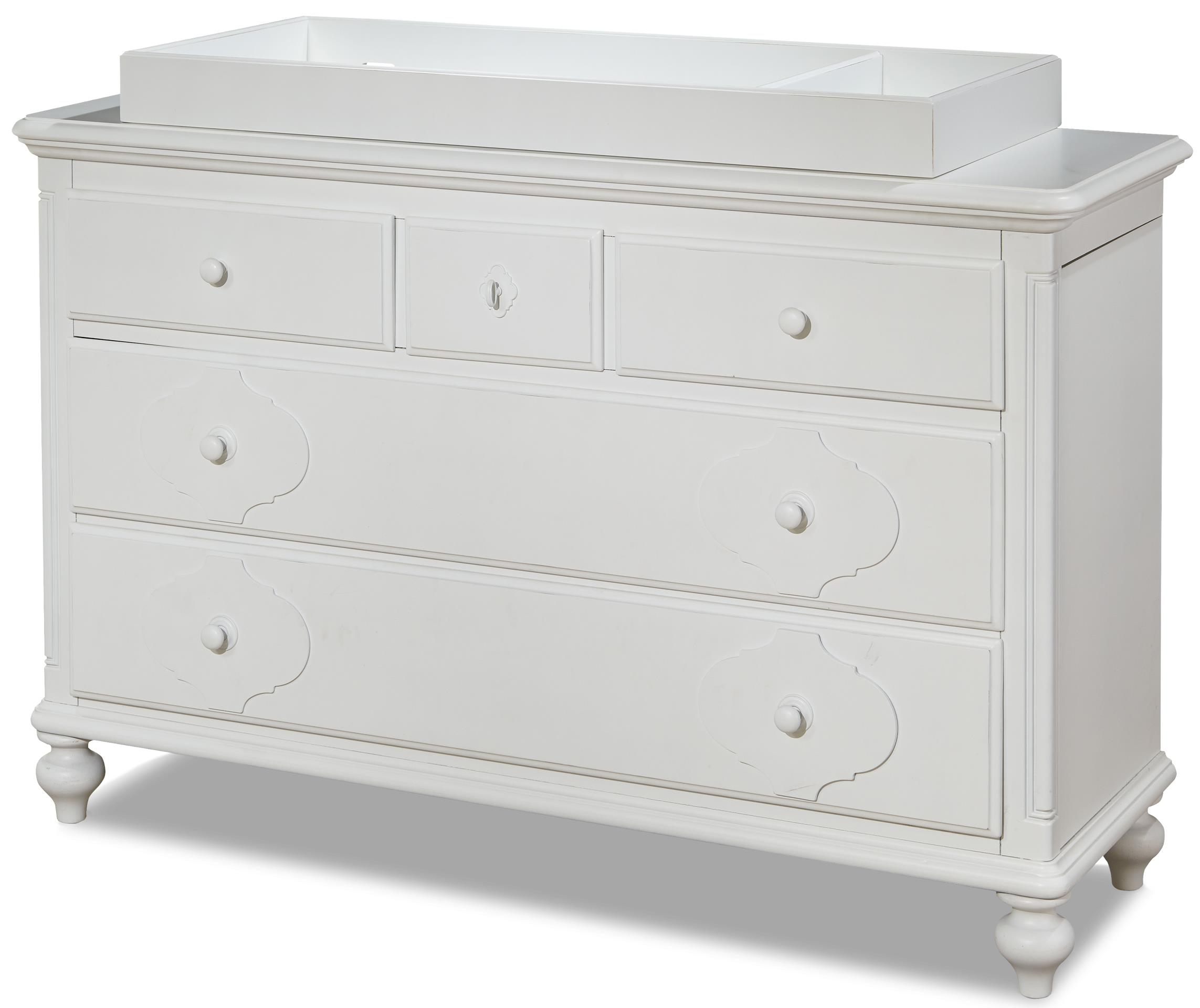 Smartstuff Black and White Dresser with Changing Station - Item Number: 437A002+200