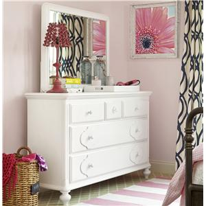 Universal Kids Smartstuff Black and White Dresser and Mirror Combo