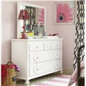 Smartstuff Black and White Dresser and Mirror Combo - Item Number: 437A032+002