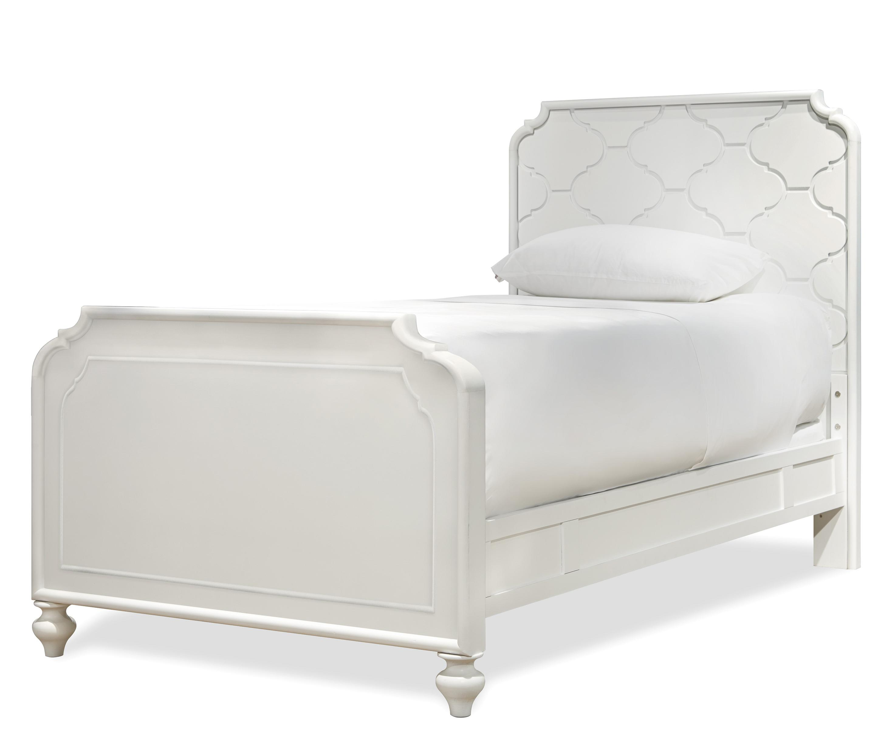 Smartstuff Black and White Twin Bed - Item Number: 437A035