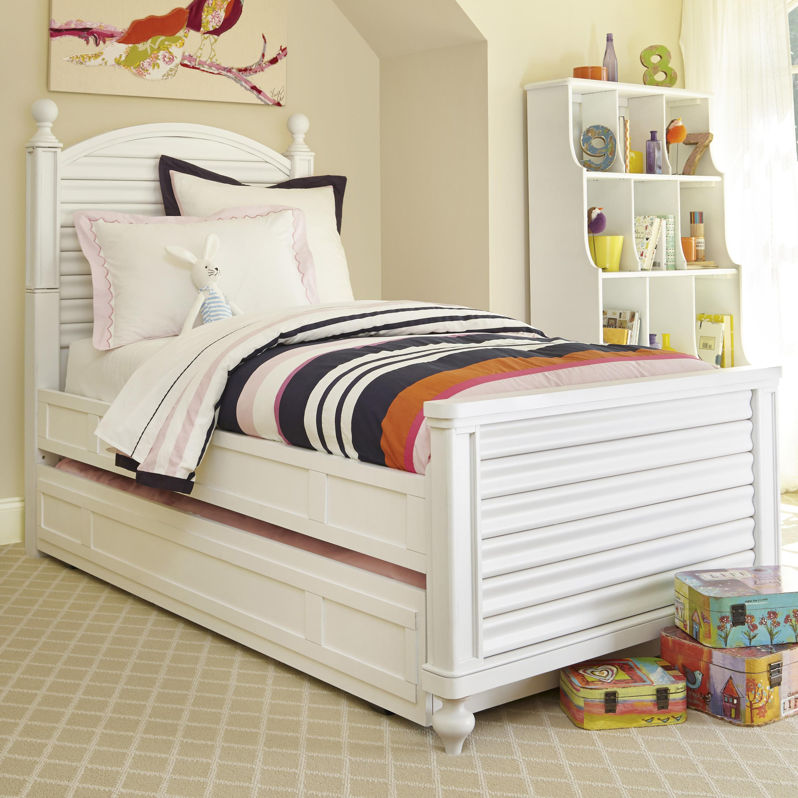 Smartstuff Black and White Full Reading Bed with Trundle - Item Number: 437A043+060
