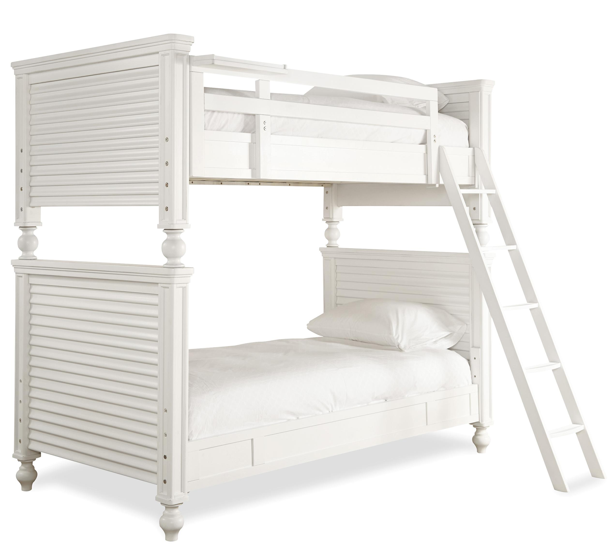 Smartstuff Black and White Twin All American Bunk Bed - Item Number: 437A530