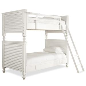 Universal Kids Smartstuff Black and White Twin All American Bunk Bed