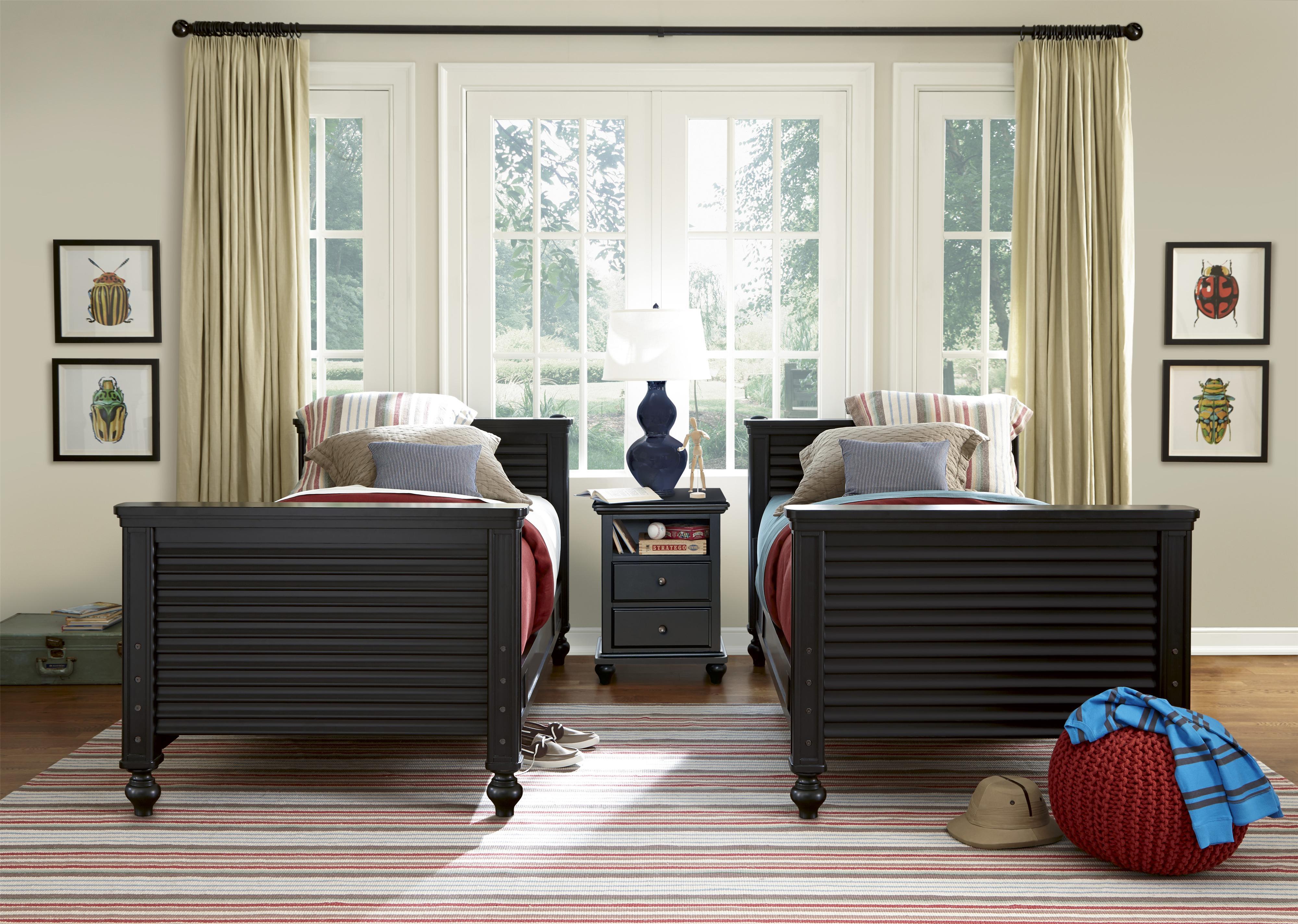 Smartstuff Black and White Full Bedroom Group - Item Number: 437B F Bedroom Group 1