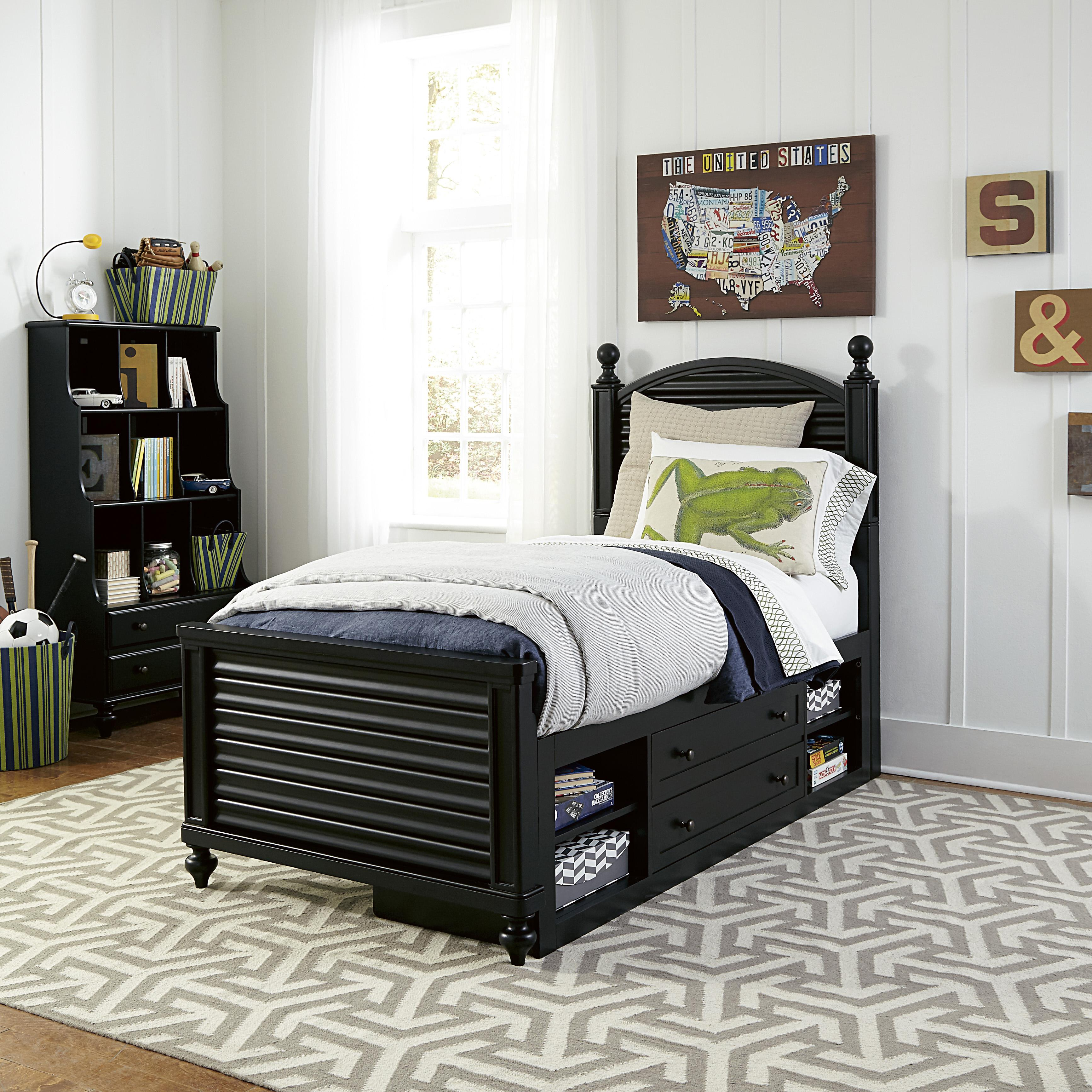 Smartstuff Black and White Twin Bedroom Group - Item Number: 437B T Bedroom Group 4